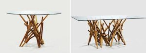table verre ronde et rectangulaire