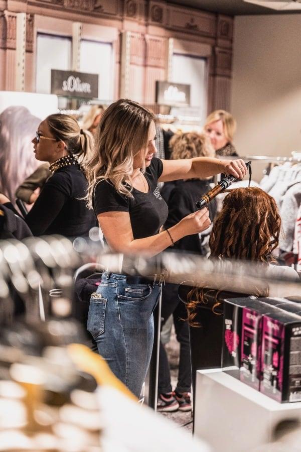 salon de coiffure avant le covid-19